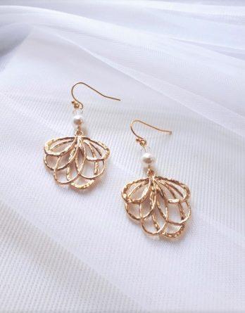Capucine - Boucles d'oreilles avec perles swarovski