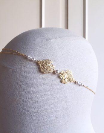 Louise - Headband mariage avec perles swarovski