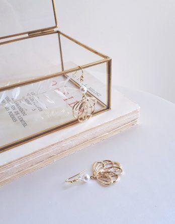 Capucine - Boucles d'oreilles mariage avec perles swarovski