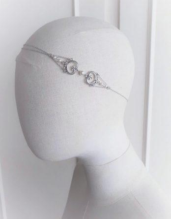 Angelina - Headband mariage avec perles swarovski