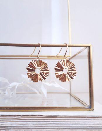 Vague - Boucles d'oreilles minimalistes plaqué Or 24K