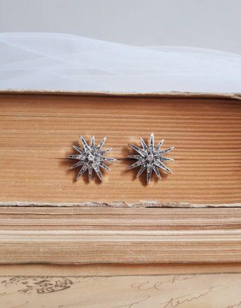 Étoile - Boucles d'oreilles clous étoiles style vintage chic
