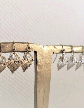 """Boucles d'oreilles demoiselles d'honneur """"Nélia"""" avec perles swarovski"""