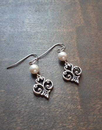 """Boucles d'oreilles mariage """"Sophie"""" avec perles swarovski"""