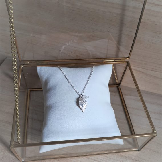 Nélia - Collier Demoiselles d'honneur avec perles swarovski