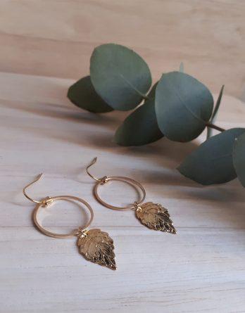 Feya Feuille - Boucles d'oreilles mariage