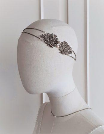 Chloé 2 - Headband mariage avec perles swarovski
