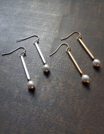Lise - Boucles d'oreilles mariage avec perles swarovski