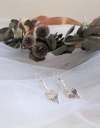 Mia - Boucles d'oreilles mariage avec perles swarovski