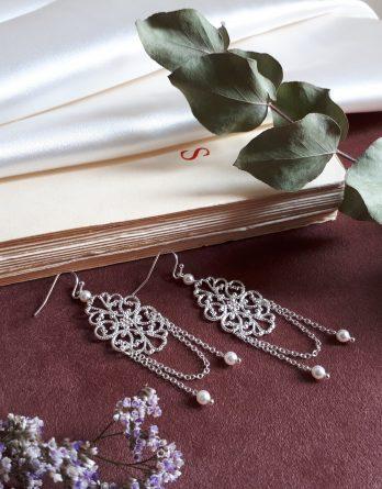 Manon - Boucles d'oreilles mariage avec perles swarovski