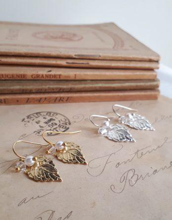 Nélia - Boucles d'oreilles demoiselles d'honneur avec perles swarovski