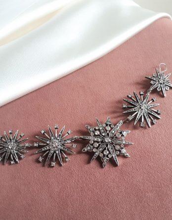 Étoile - Bijoux de tête mariée étoile style vintage chic avec cristaux