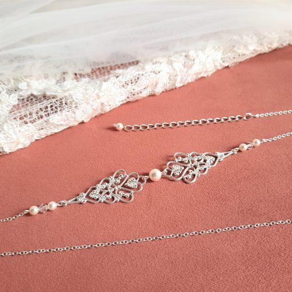 Anastasia - Headband mariage retro chic et élégant avec perles Swarovski