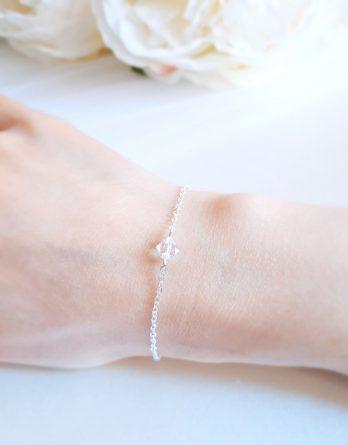 Bracelet mariage avec cristal Swarovski pour mariée et demoiselle d'honneur