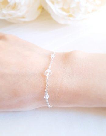 Aurore No.4 - Bracelet mariage avec cristal Swarovski pour mariée et demoiselle d'honneur