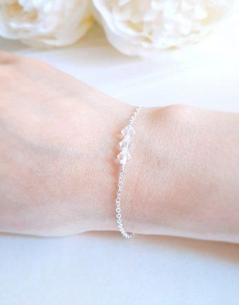 Aurore No.5 - Bracelet mariage avec cristal Swarovski pour mariée et demoiselle d'honneur