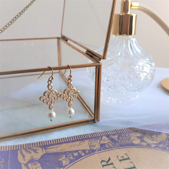 Milia - Boucles d'oreilles mariage avec perles swarovski