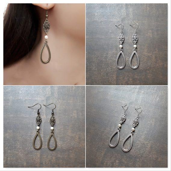 Sienna - Boucles d'oreilles mariage avec perles swarovski
