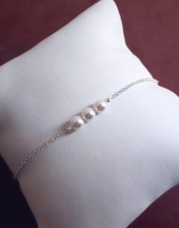 Lou - Bracelet mariage perle pour mariée ou demoiselles d'honneur et témoins