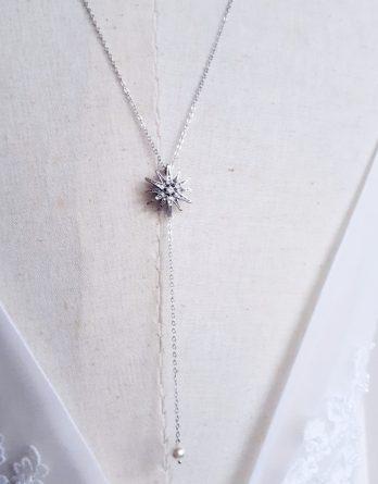 Étoile - Collier bijou de dos mariage simple chic et élégant