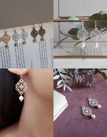 Elena – Boucles d'oreilles mariage - Boucles d'oreilles demoiselles d'honneur avec perles swarovski