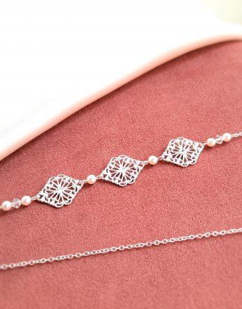 Elena - Headband mariage vintage chic avec perles Swarovski
