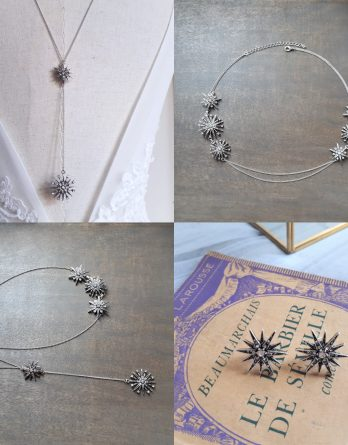 Étoile - Headband mariage - Boucles d'oreilles mariage - Parure de mariage