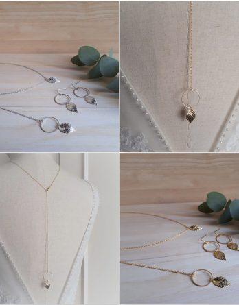 Feya Feuille - Collier avec bijou de dos mariage