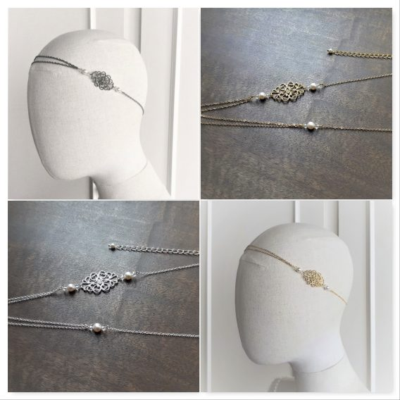 Manon - Headband mariage avec perles swarovski