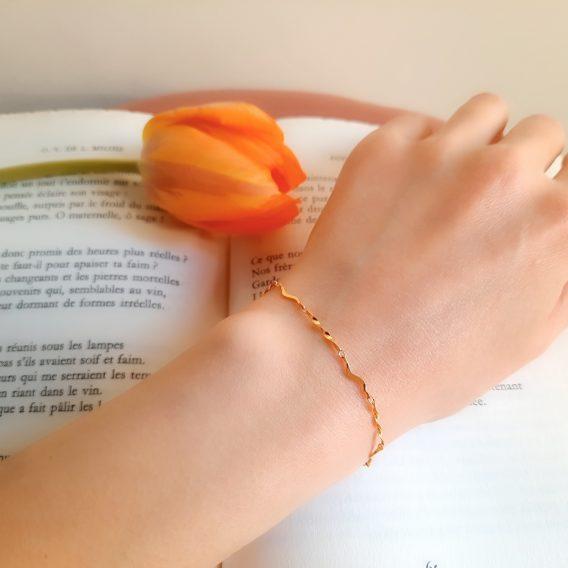 Nova - Bracelet minimaliste et élégant en plaqué Or 24K