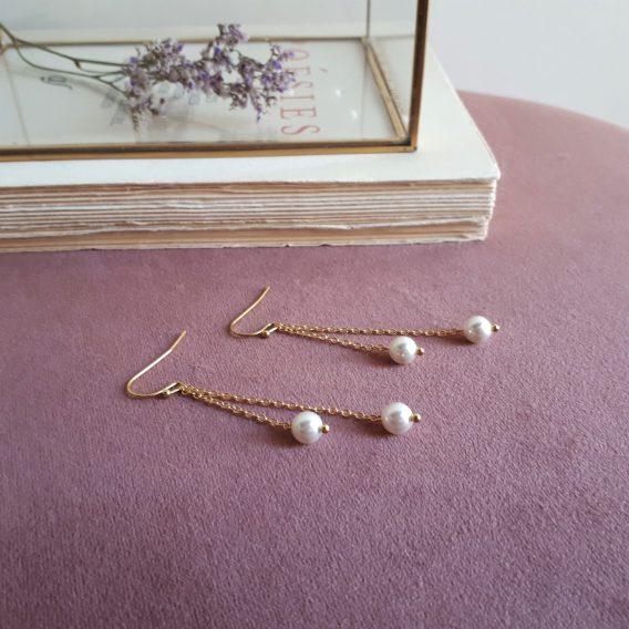 Pearl 2 - Boucles d'oreilles avec perles swarovski