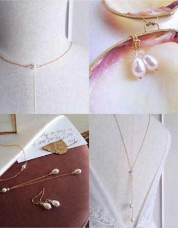 Tina - Parure de mariage avec perles poires swarovski