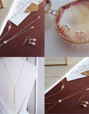 Tina – Parure de mariage avec perles rondes swarovski