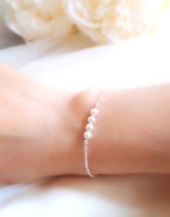 Zoé No.3 - Bracelet mariage perles pour mariée et demoiselle d'honneur