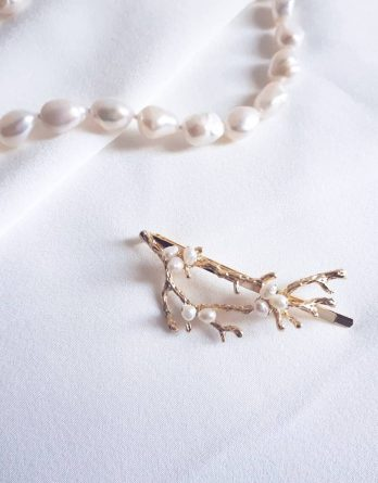 Maï - Épingle à cheveux avec perles naturelles d'eau douce